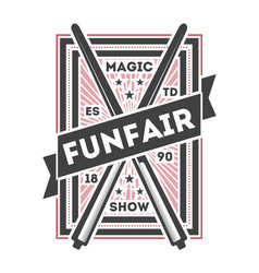 funfair show vintage isolated label vector image