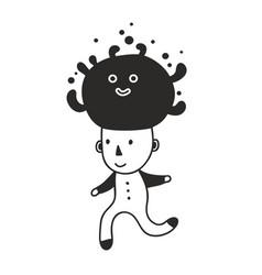hand drawn character vector image