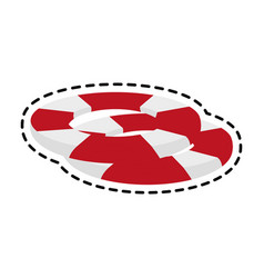 life preserver belt icon image vector image