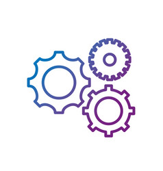 line gears engineering industry process technology vector image vector image