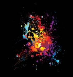 rainbow dribble splat vector image