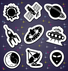 space exploration label vector image vector image