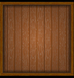 wooden frame with boards vector image vector image