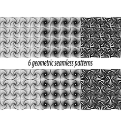 6 Paradox zentangle patterns vector