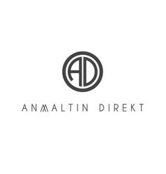 A d letter logo lettermark ad monogram typeface vector