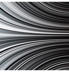 Abstract black and white warped stripes background vector image