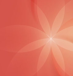 Abstract Floral on Salmon Pink Background vector