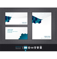 Abstract set of envelopes corporate vector