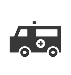ambulance car healthcare and medical related vector image