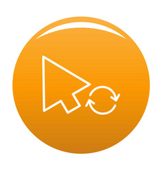 Arrow cursor loading icon orange vector