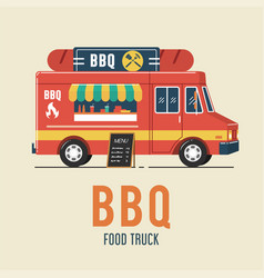 barbecue food truck vector image