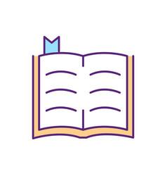 bible rgb color icon vector image