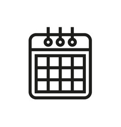 calendaricon on white background vector image