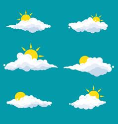 cloud cartoon design vector image