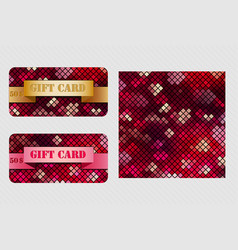 colorful set with gift cards vector image