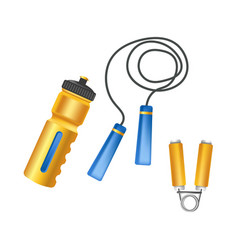 Convenient plastic bottle long jump rope and vector