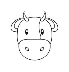 Cow livestock animal design vector