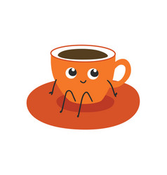 cup of coffee or tea vector image