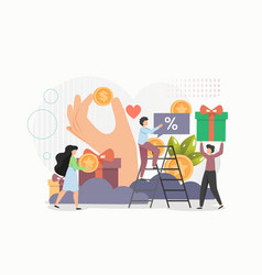 customer loyalty program online rewards concept vector image
