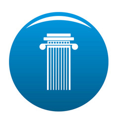 Cylindrical column icon blue vector