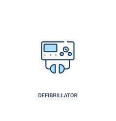 Defibrillator concept 2 colored icon simple line vector