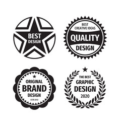design graphic badge logo set in retro vector image