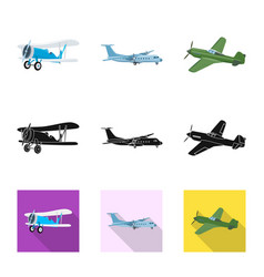 Design of plane and transport sign vector