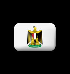 Egypt coat arms matted icon and button vector
