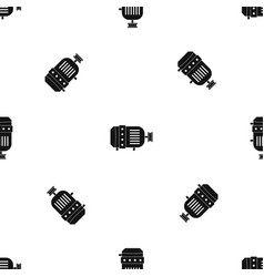 electric motor pattern seamless black vector image