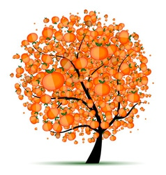 Energy citrus tree for your design vector image vector image
