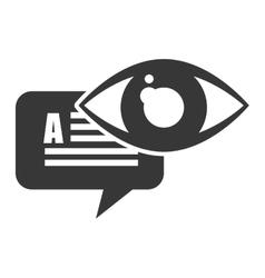 eye with speech bubble icon vector image