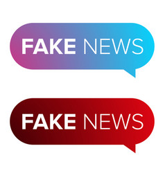 Fake news warning speech bubble vector