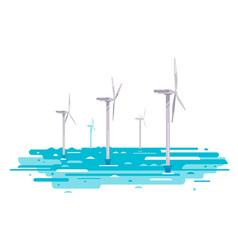 floating wind turbine vector image