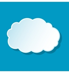 Fluffy cloud icon vector image