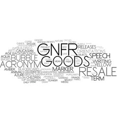 gnfr word cloud concept vector image