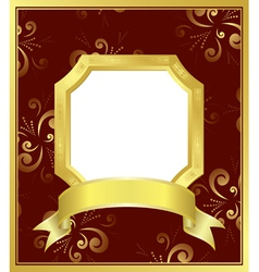 golden frame with white center vector image