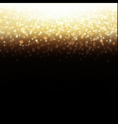 golden glitter background vector image
