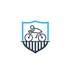 guard bike logo icon design vector image