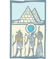 Hieroglyph Pyramids vector image