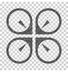 Hover Drone Grainy Texture Icon vector