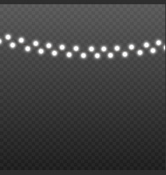 lights garland a holiday illumination realistic vector image