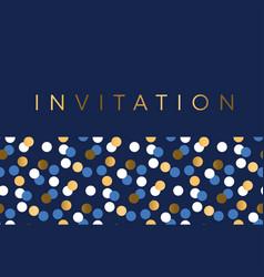 luxury marine geometric pattern for invitation vector image