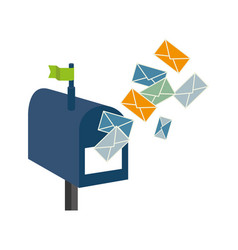 mailbox with envelope letter isolated icon vector image