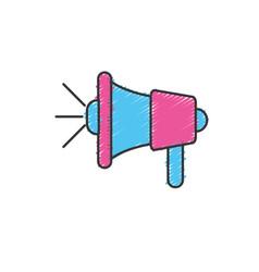 Megaphone tool to speaker communication message vector