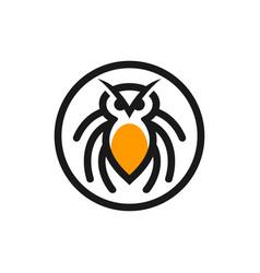 Modern animal tarantula logo vector