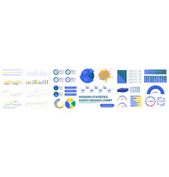 modern infographic template with stock diagrams vector image
