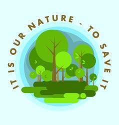 Nature environment vector