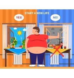 Obesity Design Composition vector