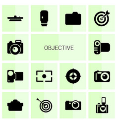 Objective icons vector