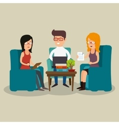 office teamwork discussing ideas vector image
